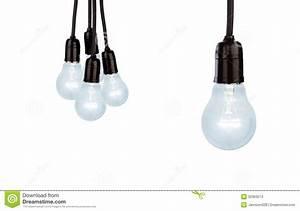 Hanging light bulbs stock photo. Image of inspiration ...