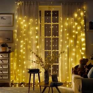 Lichtervorhang Innen Fenster : led lichtervorhang lichternetz innen au en led lichterkette led leiste warmwei ebay ~ Orissabook.com Haus und Dekorationen