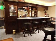 Basement Bar Traditional Basement cleveland by