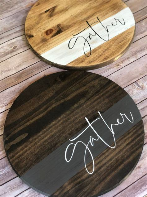 gather  farmhouse wood sign living room decor wooden