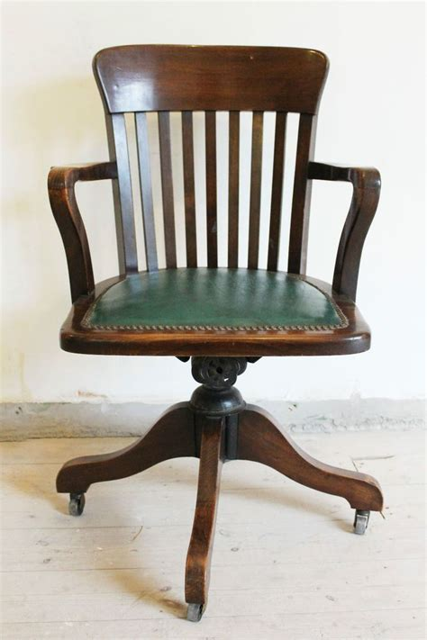antique wooden swivel desk chair antique 1920 1930s swivel office chair bankers chair