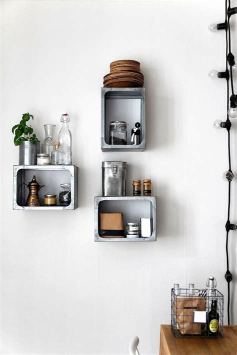 Traditional Kitchen Design with Metal Box Wall Mounted