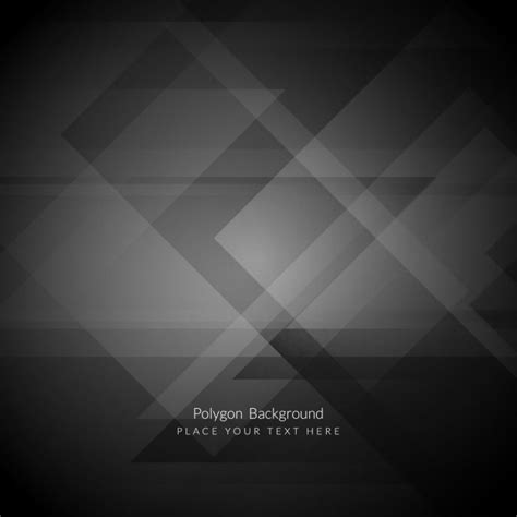 Abstract Black Vector Background by Black Polygonal Background Vector Free