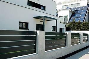Aluminium Zaun Modern : aluminium zaun triest bauhausstil breite horizontale ~ Articles-book.com Haus und Dekorationen