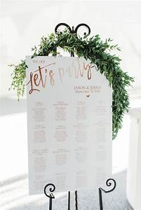 Romantic Seating Chart Sign With Greenery And Easel