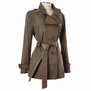 Asymmetrical Button Raincoat Petite from Burlington Coat