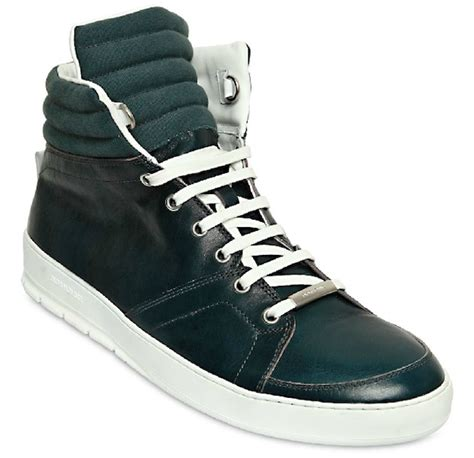 dior homme ribbed calfskin high top sneakers upscalehype