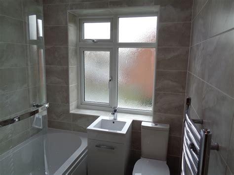 Modern Bathroom Gray by Bathroom Converted To New Style Bathroom With P Shaped Bath