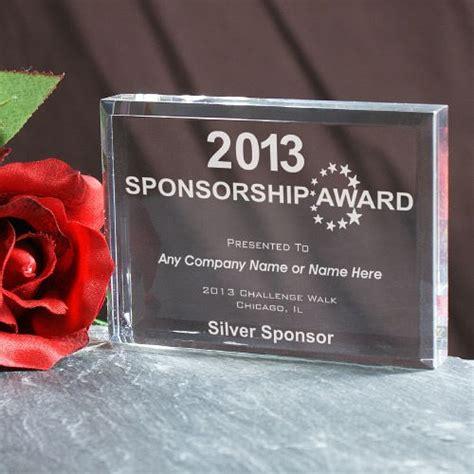 sponsorship award keepsake block mywalkgearcom