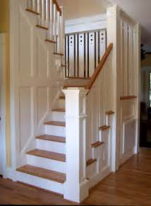craftsman style staircase wendell arts crafts
