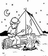 Coloring Camping Pages Popular sketch template