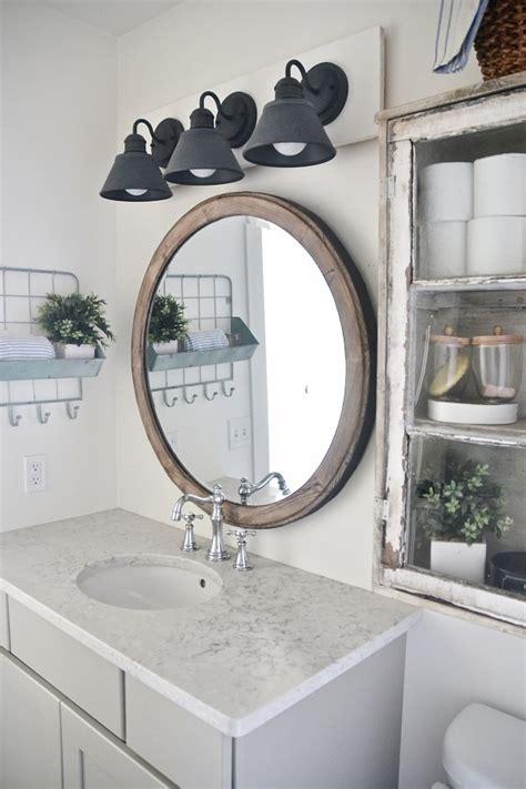 Farmhouse Bathroom Light Fixtures by Diy Farmhouse Bathroom Vanity Light Fixture Liz