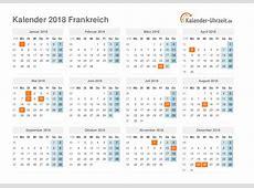 Feiertage 2018 Frankreich Kalender & Übersicht