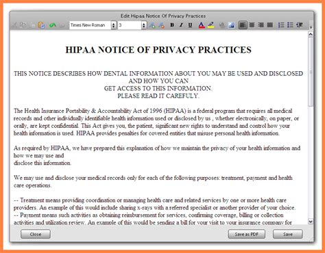 Notice Of Privacy Practices Template by Notice Of Privacy Practices Template Image Collections