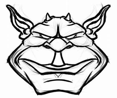 Goblin Drawing Cartoon Line Sketch Monster Layer