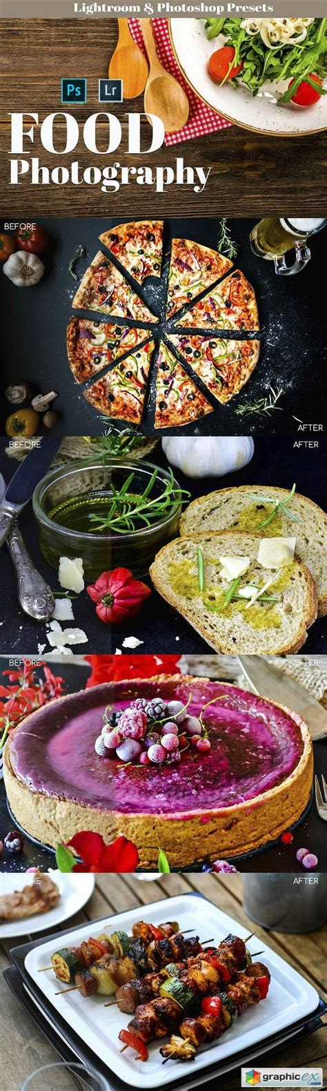 food photography presets   vector stock