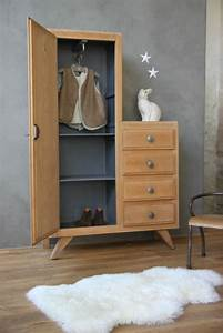 Petite Armoire Penderie : armoire r tro petite belette meuble vintage vintage ~ Preciouscoupons.com Idées de Décoration