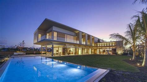 square foot contemporary waterfront mansion