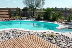conception paysagere tour de piscine plages de piscine With creation bassin de jardin 11 galerie photos tour de piscine jardin mineral bassin