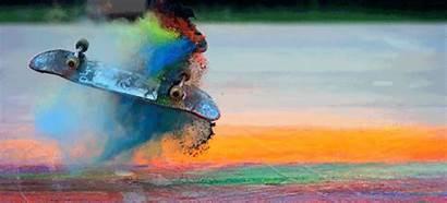 Powder Colored Tricks Paint Skateboard Cooler Skate