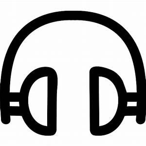 Headphones hand drawn tool - Free music icons