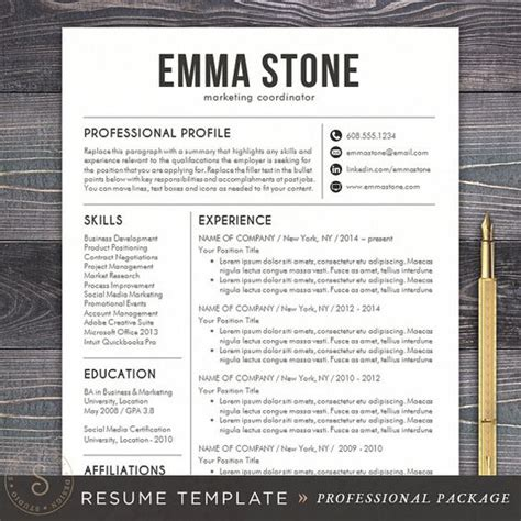 Professional Resume Designs by The World S Catalog Of Ideas