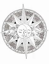 Coloring Mandala Celestial Moon Mandalas Adult Imgfave Adults Colouring Sundial Hardsadness sketch template