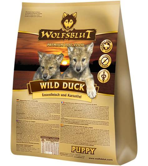 wolfsblut wild duck puppy mit ente kartoffeln  kg im