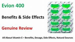 Evion Vitamin E Capsule - Uses  Benefits  Side Effects In Hindi