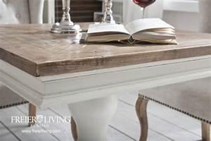 Quadratischer Tisch Ausziehbar : quadratischer esstisch beistelltisch alt wei shabby chic franz sischer wohnstil kaufen bei ~ Sanjose-hotels-ca.com Haus und Dekorationen