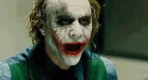 The Dark Knight Joker - Evil Laugh GIF - Devilface ...