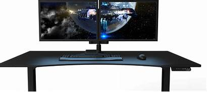Gaming Desk Desks Setup Monitor Office Computer