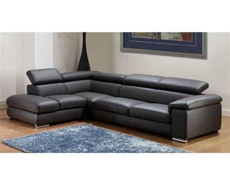 images of sectional sofas modern leather sectional sofa set in dark grey finish 33ls131