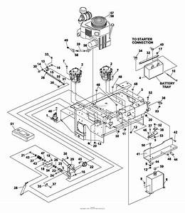 Bunton  Bobcat  Ryan 942241c Predator Pro 33hp Gen W  61 U0026quot  Sd Parts Diagram For Upper Engine Deck Assy
