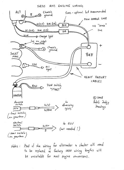 sr20det alternator wiring diagram sr20det alternator starter wiring the 510 realm