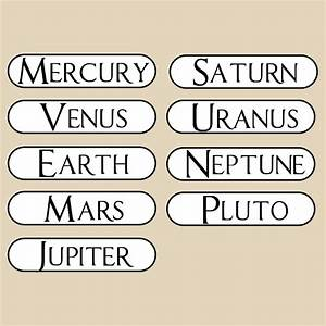 Planet Name Decals