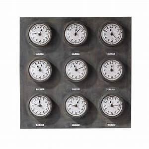 Horloge Murale Maison Du Monde : horloge greenwich maisons du monde ~ Teatrodelosmanantiales.com Idées de Décoration