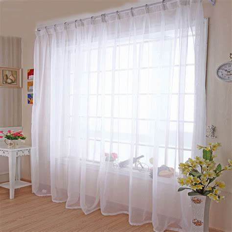 White Sheer Voile Curtains by מוצר Kitchen Tulle Curtains Translucidus Modern Home