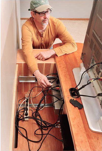 build  wall mounted tv media center  sliding