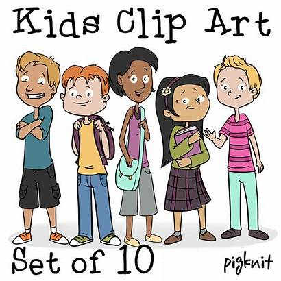 Middle Clip Cartoon Clipart Classroom Age Kid