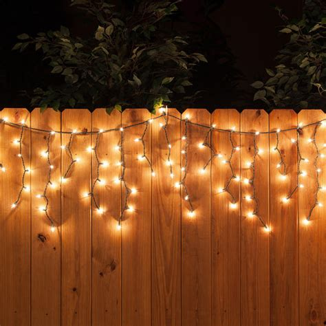 150 icicle lights clear green wire yard envy