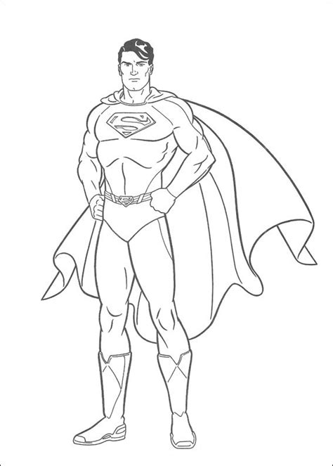 disegni  superman da colorare pianetabambiniit