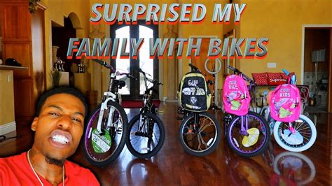 Surprising My Whole Family With Brand New Bikes! Youtube