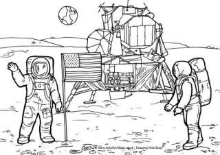 neil armstrong colouring page