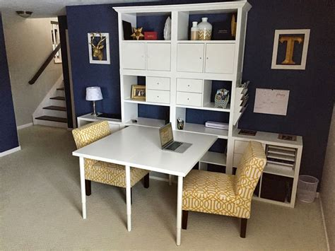 Kallax Schreibtisch Ikea by The Sodak Shack How To Build Our Ikea Hack Mega Desk