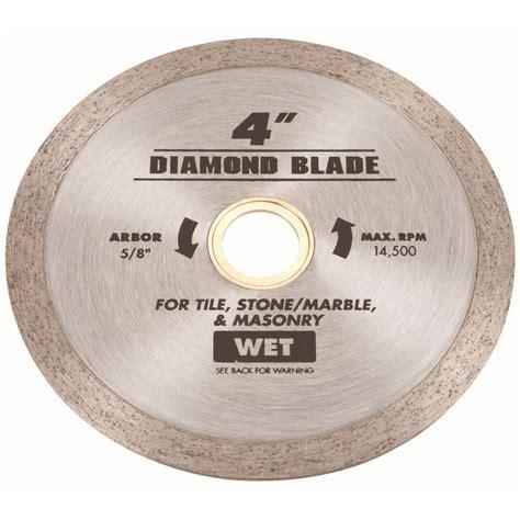 4 in continuous rim wet cut masonry diamond blade