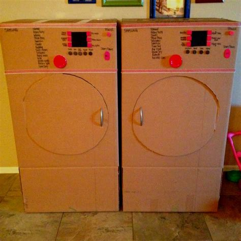 pretend front loader washer and dryer cardboard boxes 587 | 739020d0039ec8af09515b32011ae3c6
