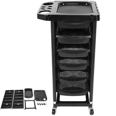 bietet bis zu 50% Rabatt Salon Hairdresser Barber Storage Trolley Cart Hair Colouring Spa with 5 ...