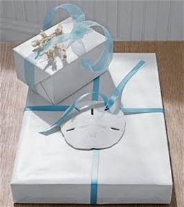 Gift Wrap It Coastal Style Ideas with Shells Sanddollars