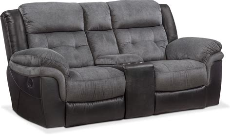 recliner loveseat with console tacoma manual reclining sofa and loveseat set black